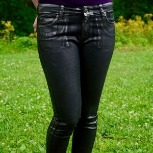 Micheal Kors Silver Metallic Skinny Jean